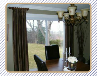 Window treatment with chandelier