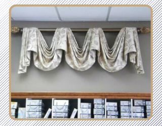 Drapes on display